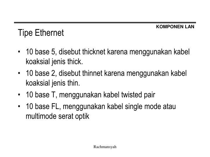 Tipe Ethernet