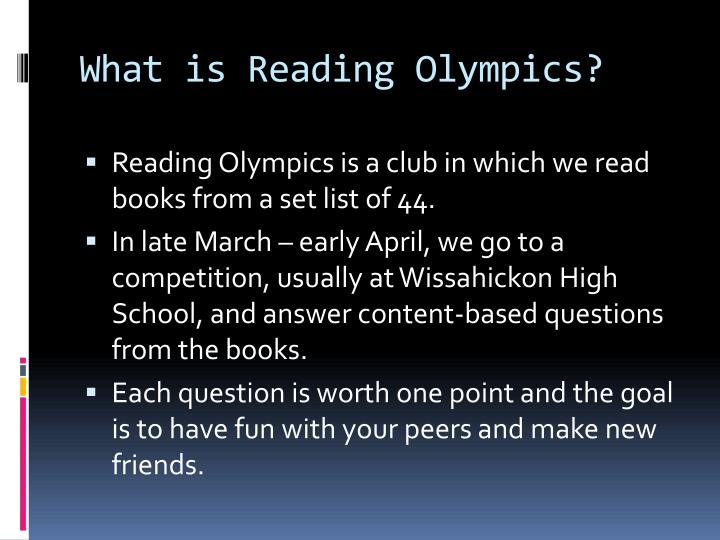 What is Reading Olympics?