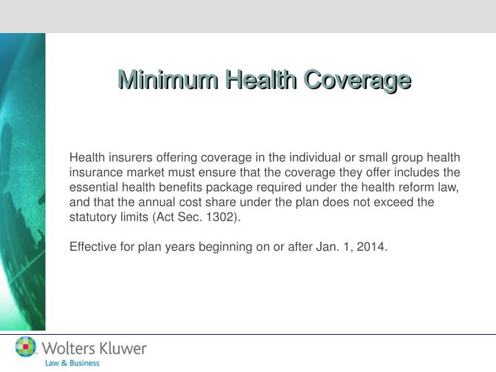 Minimum Health Coverage