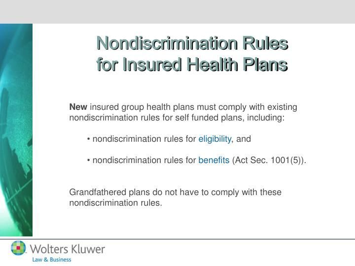 Nondiscrimination Rules