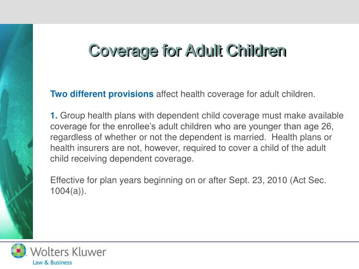 Coverage for Adult Children