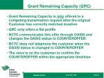grant remaining capacity grc