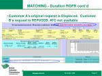 matching duration rofr cont d5