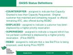 oasis status definitions2