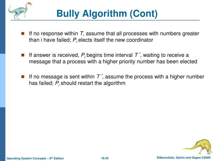 Bully Algorithm (Cont)