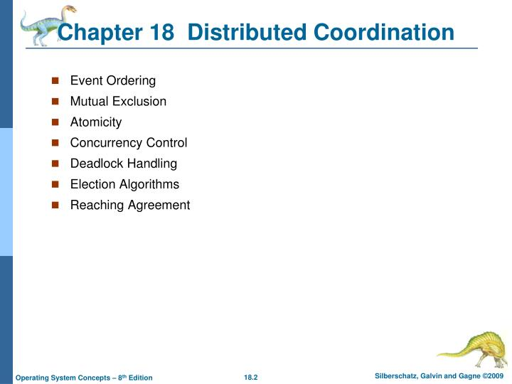 Chapter 18 distributed coordination1