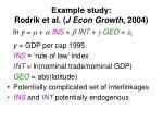 example study rodrik et al j econ growth 2004