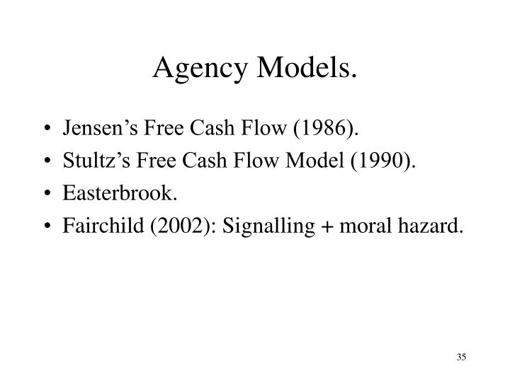 Agency Models.