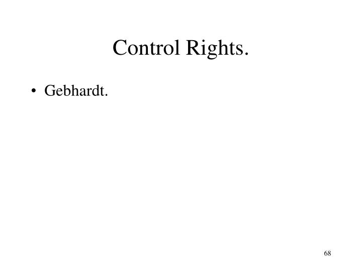Control Rights.
