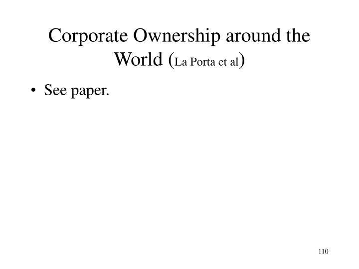 Corporate Ownership around the World (
