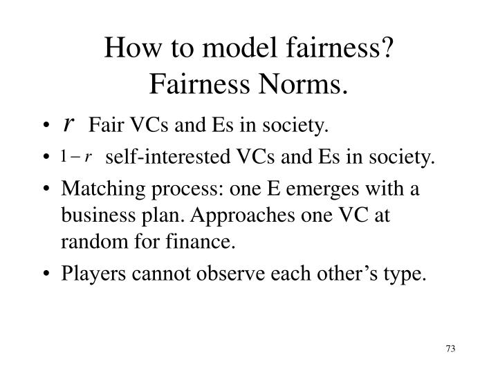 How to model fairness?