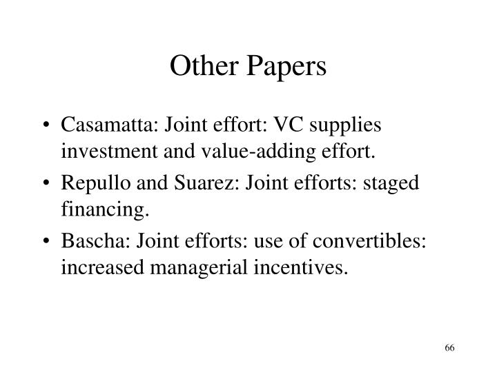 Other Papers