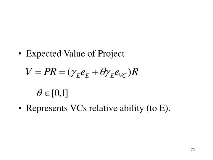 Expected Value of Project
