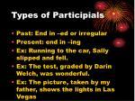 types of participials