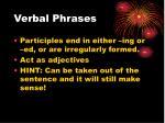 verbal phrases