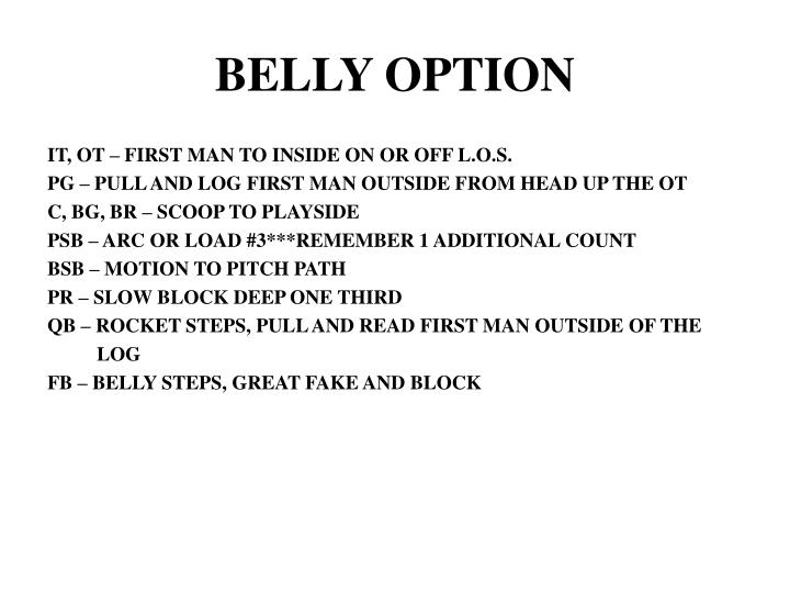 BELLY OPTION