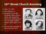 16 th street church bombing