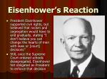 eisenhower s reaction
