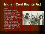 indian civil rights act