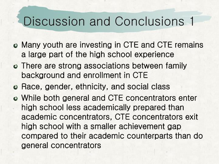 Discussion and Conclusions 1