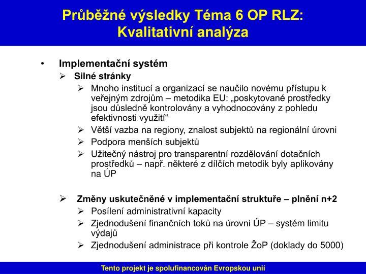 Implementační systém