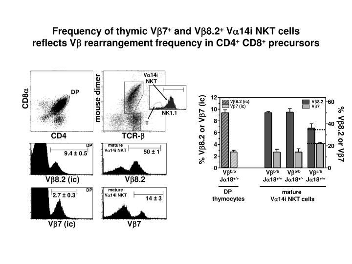 Frequency of thymic V