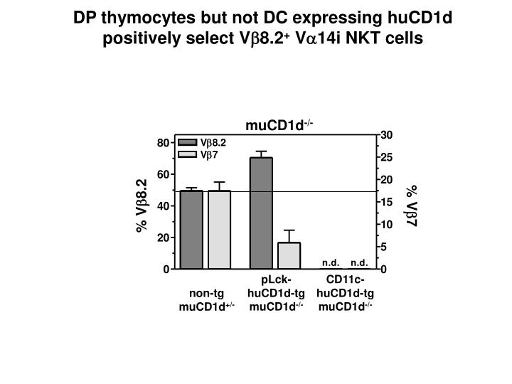 DP thymocytes but not DC expressing huCD1d