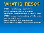 what is iresc