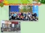 all participants near the college