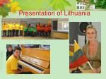 presentation of lithuania