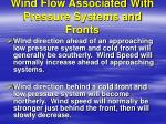 wind flow associated with pressure systems and fronts