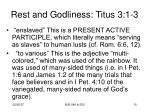rest and godliness titus 3 1 3
