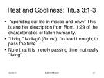 rest and godliness titus 3 1 32