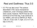 rest and godliness titus 3 31