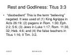 rest and godliness titus 3 34