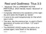 rest and godliness titus 3 35