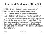 rest and godliness titus 3 37