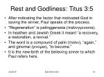 rest and godliness titus 3 51