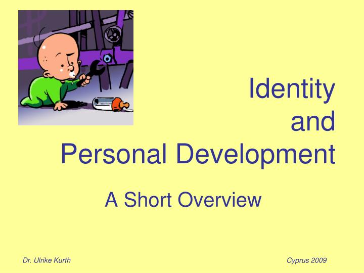 identity and personal development n.