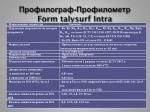 form talysurf intra
