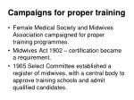 campaigns for proper training