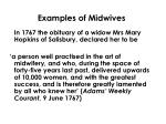 examples of midwives