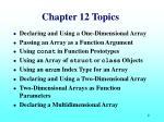 chapter 12 topics