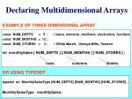 declaring multidimensional arrays