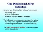 one dimensional array definition