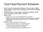 club fees payment schedule