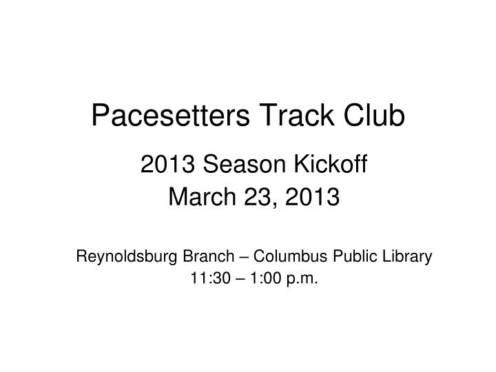 pacesetters track club n.
