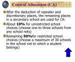 central allocation ca1