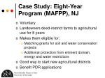 case study eight year program mafpp nj