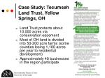 case study tecumseh land trust yellow springs oh